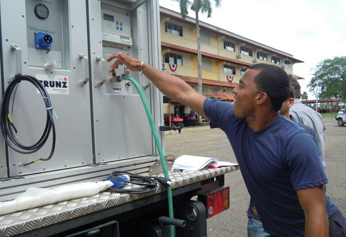 Disaster management organisation invested in mobile water purification units