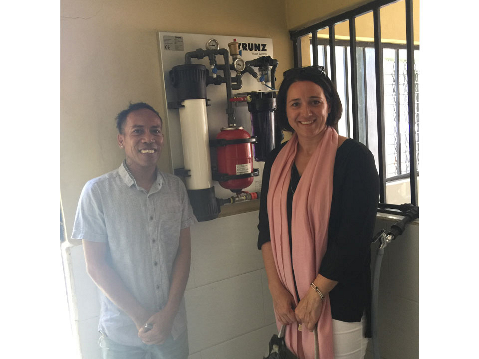 Dili Education Center providing clean water to students and guests