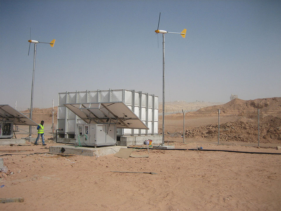 Mobile desalination units for military camp in UAE